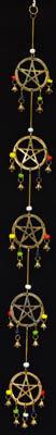 "Long Pentagram wind chime 32"""