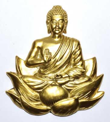 """5"""" gold Buddha burner"""