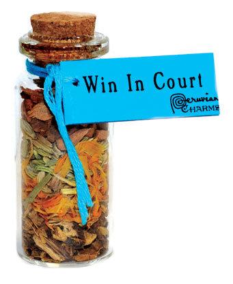 Win in Court pocket spellbottle