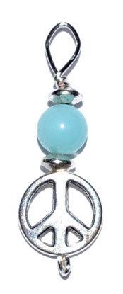 Peace pendant with amazonite bead