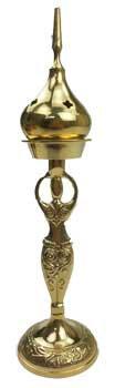 "9"" Goddess brass incense burner"