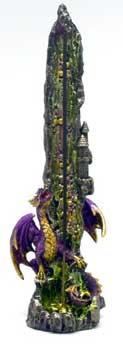"""10"""" Dragon incense holder"""