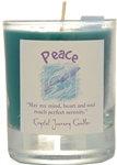 Peace soy votive candle