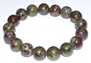 12mm Jasper, Dragon Blood bracelet