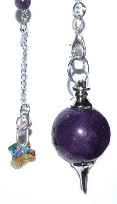 Amystyst 7 Chakra ball pendulum