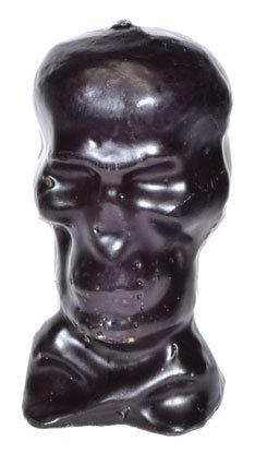 "4 3/4"" Black Skull candle"