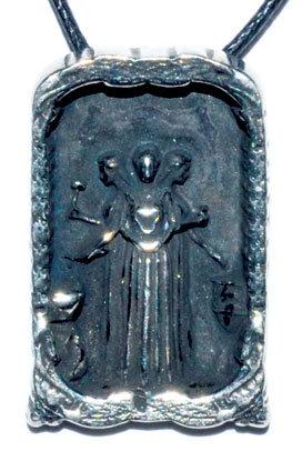 Saint Brigid pewter