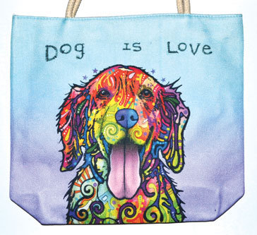 "14"" x 16"" Dog jute tote bag"