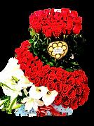 diñeño en rosas rojas