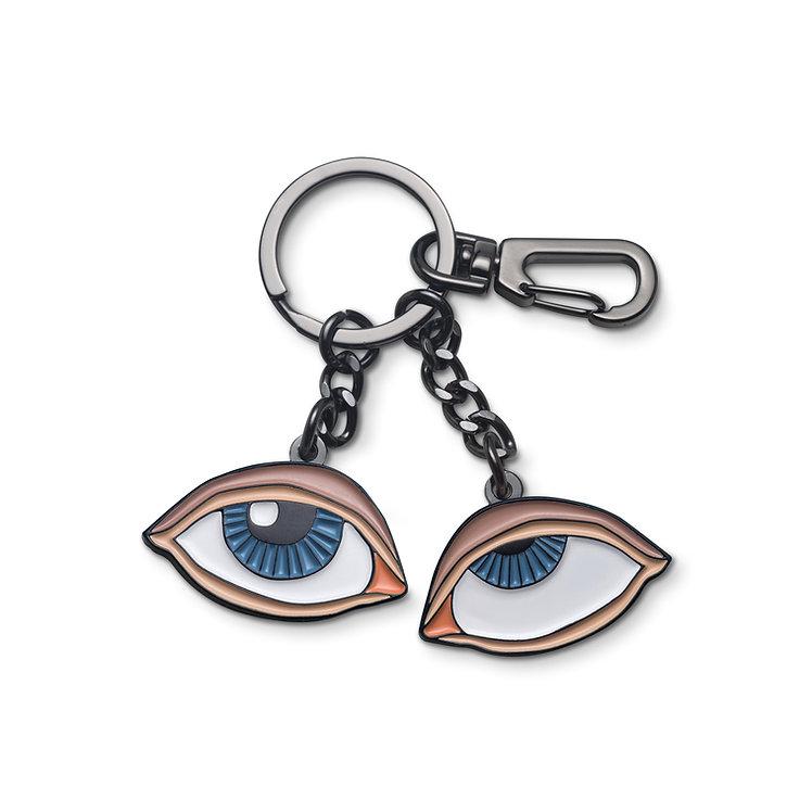 "Enamel Keychain ""Rolling Eyes"""