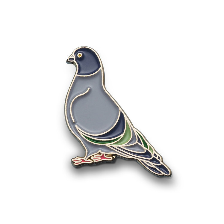"""Enamel Pin """"Pigeon"""""""