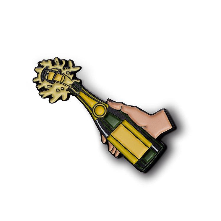 """Enamel Pin """"Champagne Pop"""""""