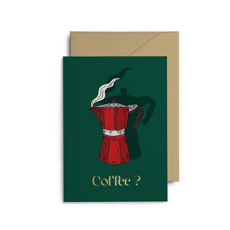 "Postcard ""Coffee?"""