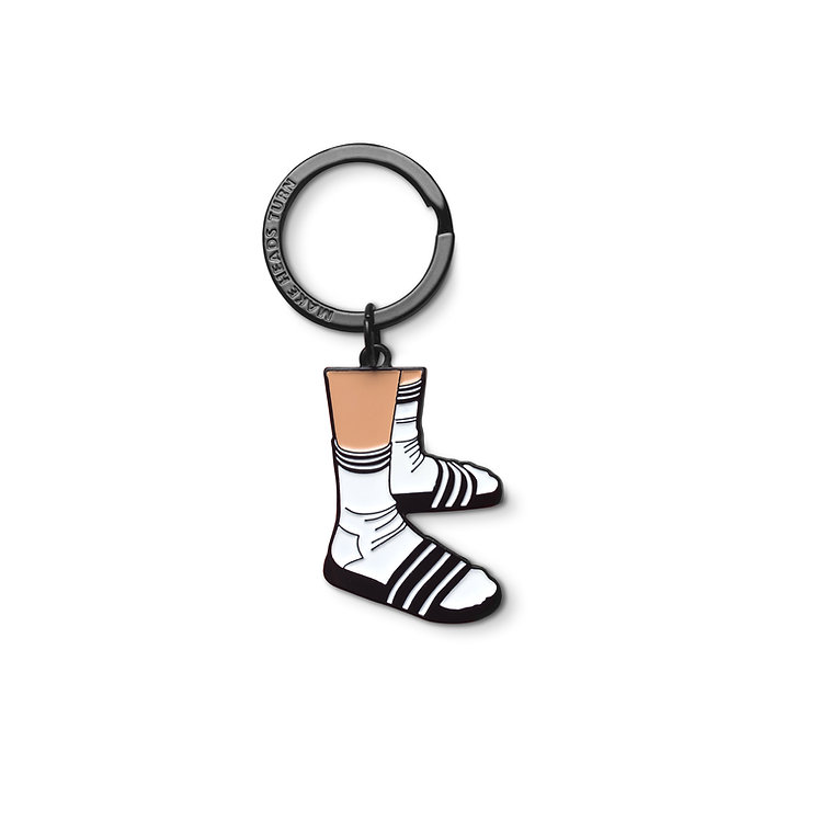 "Enamel Keychain ""Socks and Slippers"""