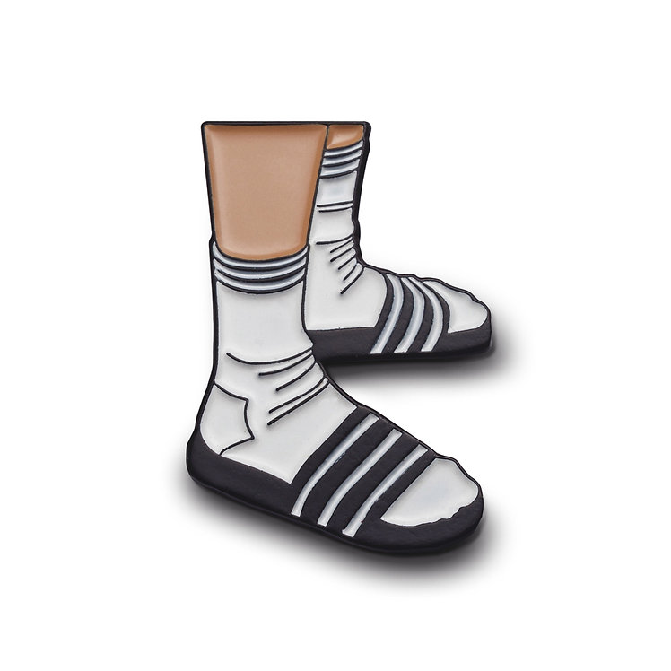 "Enamel Pin ""Socks and Slippers"""