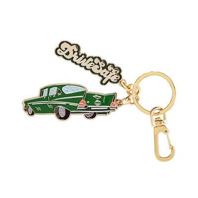 "Enamel Keychain ""Drive Safe"""
