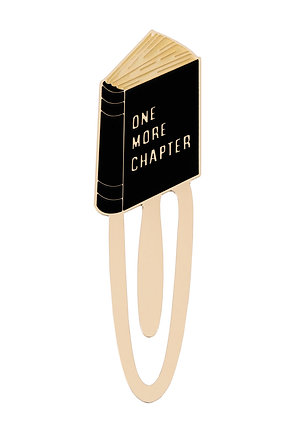 """Enamel Bookmark """"One More Chapter"""""""