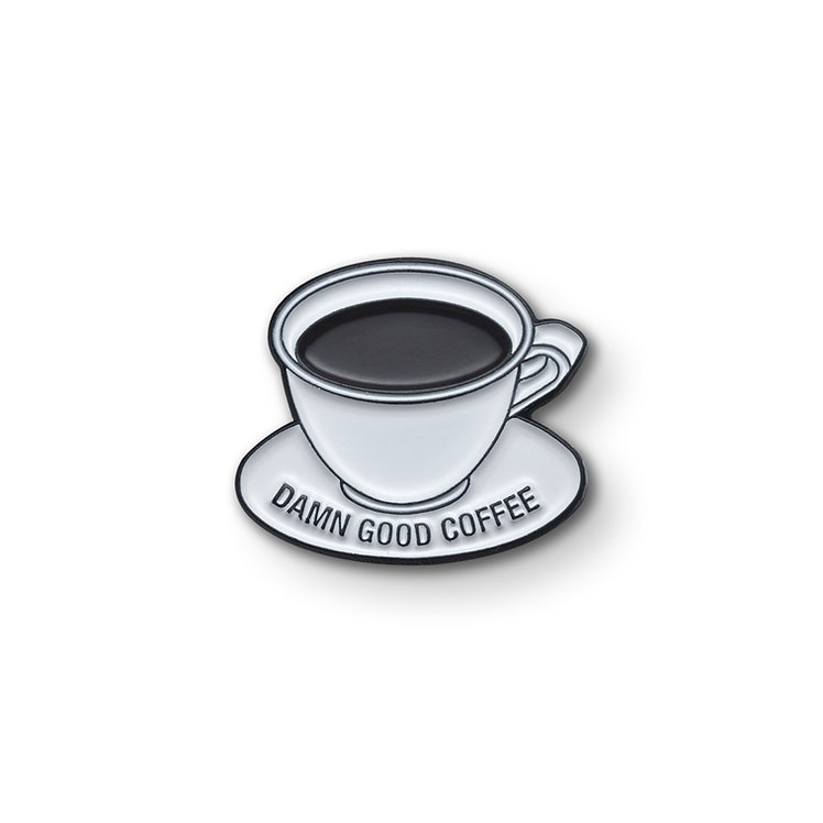 "Enamel Pin ""Damn Good Coffee"""