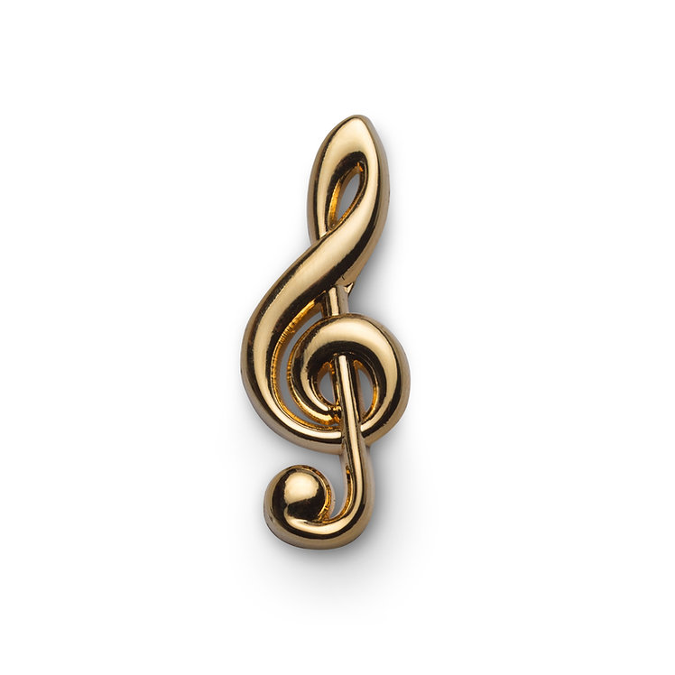 "Golden Pin ""Treble Clef"""