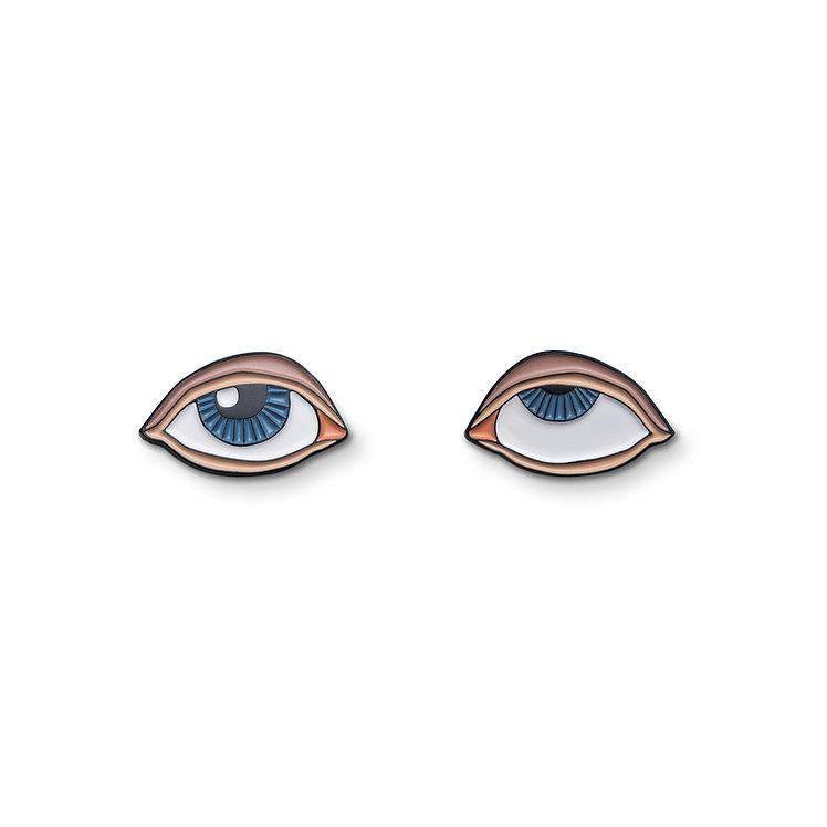"Enamel Pins ""Rolling Eyes"""