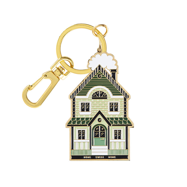 "Enamel Keychain ""Home Sweet Home"""