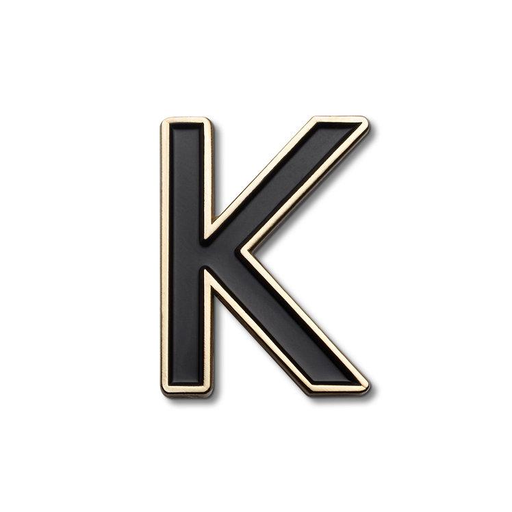 Enamel Letter K Pin