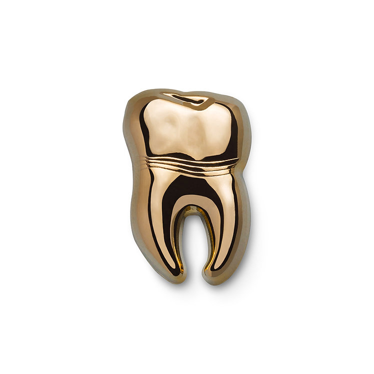 """Golden Pin """"Tooth"""""""