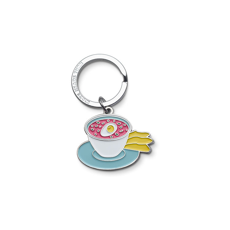 "Enamel Keychain ""Pink Cold Soup"""