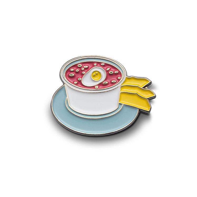 """Enamel Pin """"Pink Cold Soup"""""""