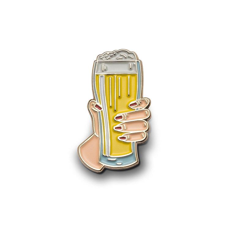 """Enamel Pin """"Cheers!"""""""