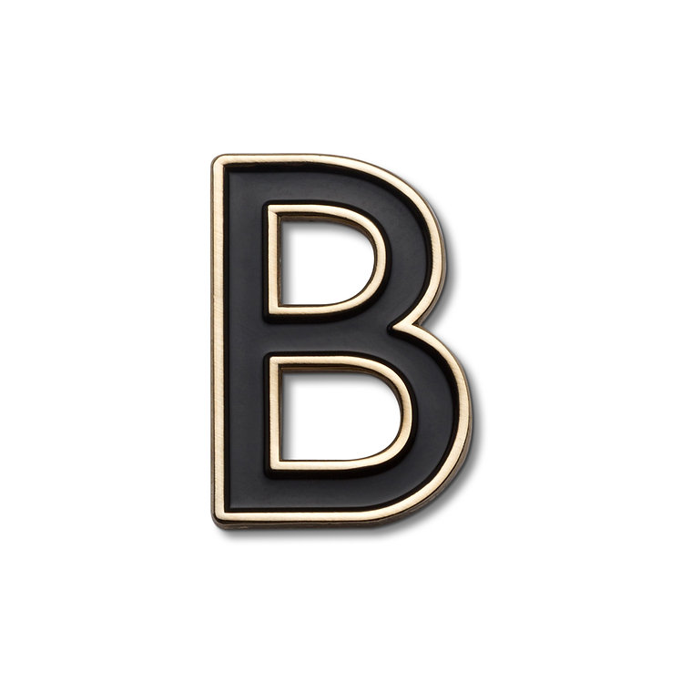 Enamel Letter B Pin