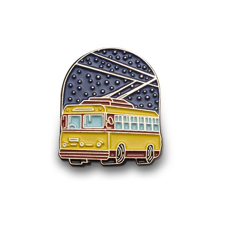 "Enamel Pin ""Trolleybus"""