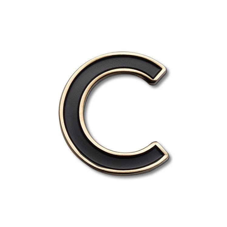 Enamel Letter C Pin
