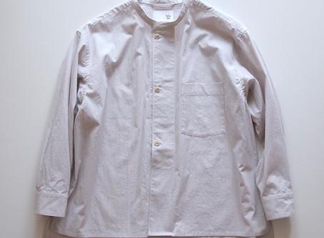 drawer shirts / off white×gray / コードレーン