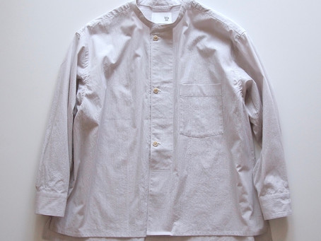 drawer shirts / off white×gray / コードレーン