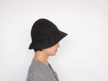 sun hat / black linen