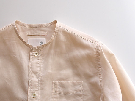 no collar long shirts / natural