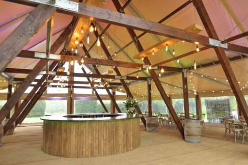 Cruck-tent-for-wedding-hire-interior
