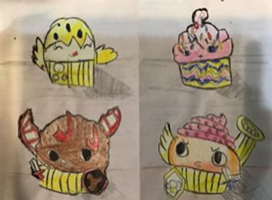 Wayne Theibaud Inspired Cupcakes Grade 3