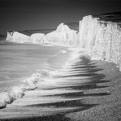 Beached Waves At Birling Gap