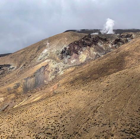 Minor Venting On Mt Tongariro