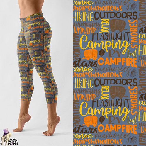 WS: Camping Subway Art Capris