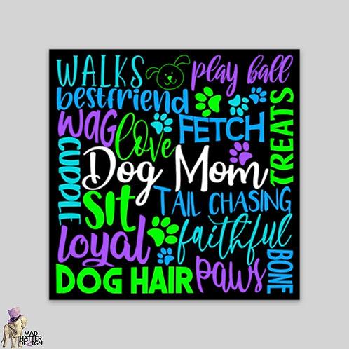 WS: Dog Mom Subway Art Magnet