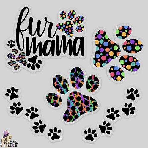 WS: Fur Mama Sticker Set