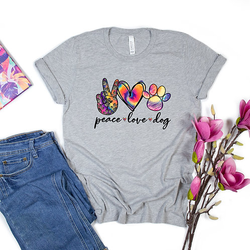 WS: Peace Love Dog Tee