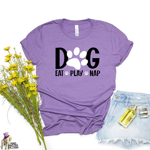 WS: Eat Play Nap White Tee