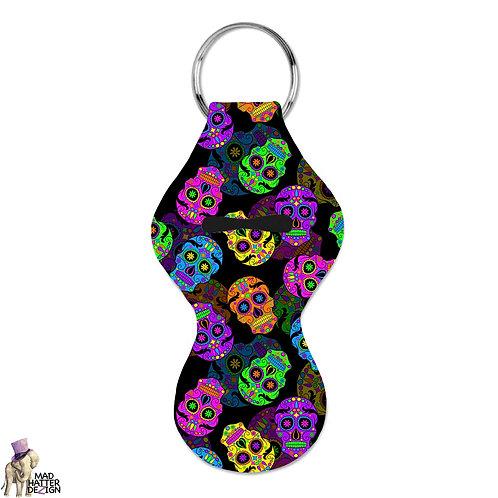 Sugar Skulls Chapstick Keychain