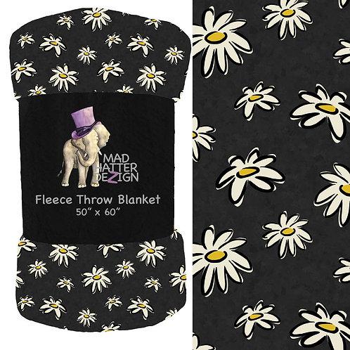 Daisy Charcoal Blanket