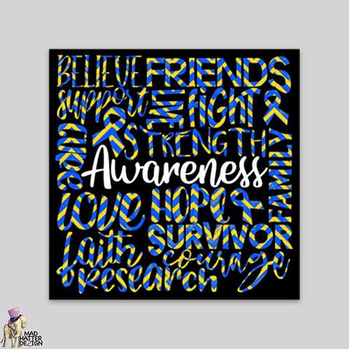 WS: Awareness Blue & Yellow Subway Art Magnet