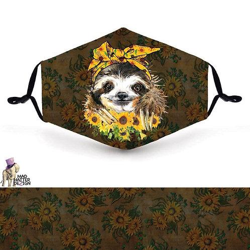 Sunflower Sloth Mask
